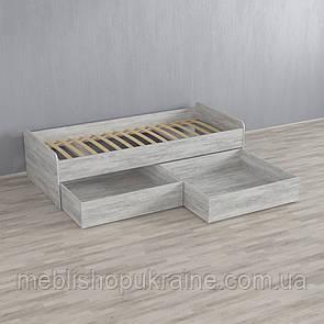 Кровать (с двумя шухлядами) Бетон Урбан