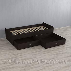 Кровать (с двумя шухлядами) Венге Темный