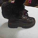 Сапоги-ботинки  модные и теплые для девочки на меху., фото 3