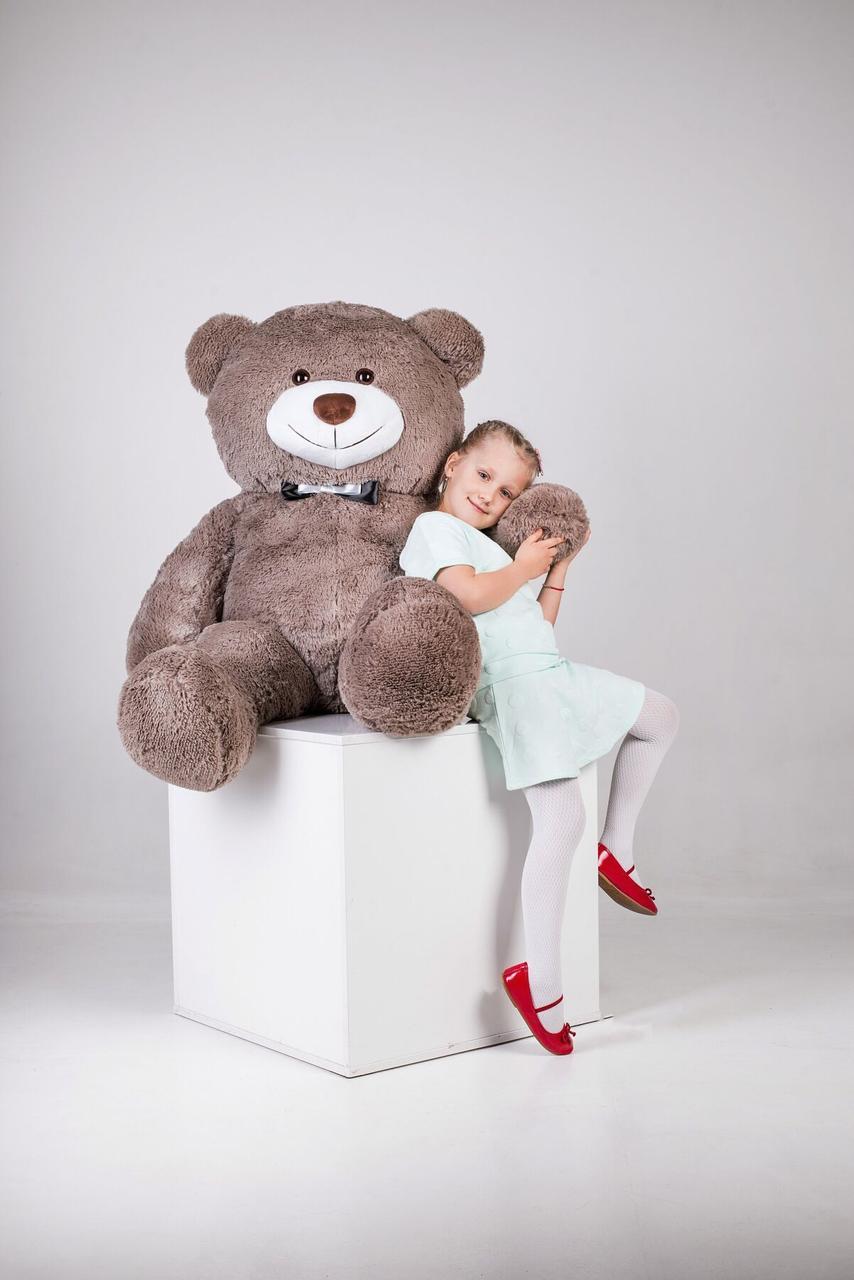 Большой плюшевый медведь Yarokuz Джеральд 165 см Капучино