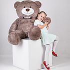 Большой плюшевый медведь с сердцем Yarokuz Джеральд 165 см Капучино, фото 5