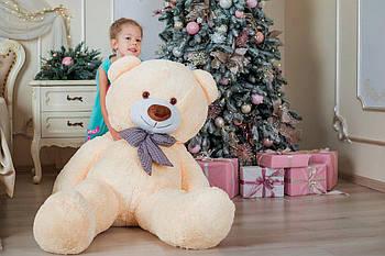 Большой плюшевый медведь Yarokuz Джеральд 165 см Персиковый