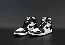 Мужские кроссовки Nike Air Jordan. White Black. ТОП Реплика ААА класса., фото 3