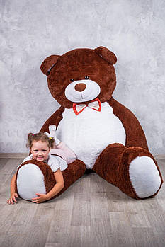 Величезний м'який ведмедик Yarokuz Вільям 250 см Шоколадний