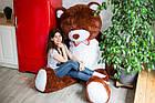 Огромный мягкий мишка Yarokuz Уильям 250 см Шоколадный, фото 3
