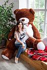 Огромный мягкий мишка Yarokuz Уильям 250 см Шоколадный, фото 9