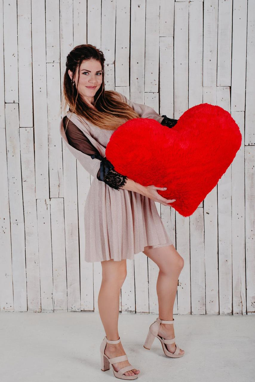 """Мягкая игрушка Yarokuz подушка """"Сердце"""" 75 см Красная"""