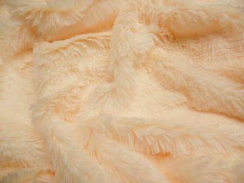 Искусственный мех-травка 20 мм Персиковый, Персиковый