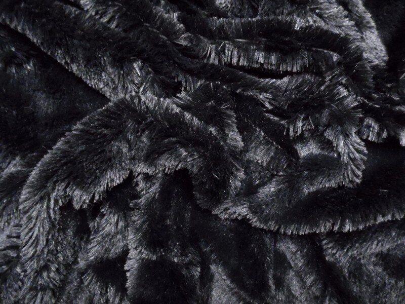 Искусственный мех-травка 20 мм Черный, Черный