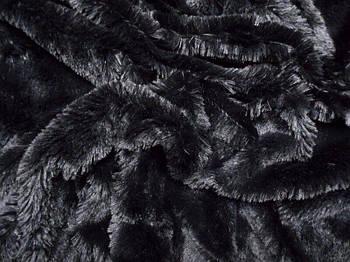 Штучний хутро-травичка 20 мм Чорний, Чорний