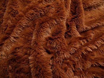 Штучний хутро-травичка 20 мм Шоколадний, Шоколадний