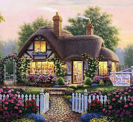 Алмазная Мозаика Магазинчик Роз Набор Вышивки Камнями DIY-6005 30x30 см (Полная Выкладка)