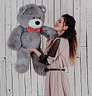 Мишка плюшевый Yarokuz Джон 110 см Серый, фото 2