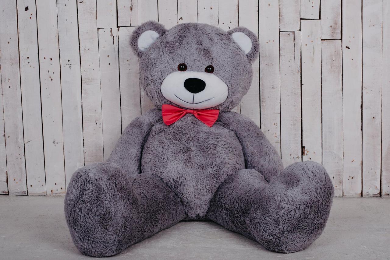 Большая мягкая игрушка мишка Yarokuz Билли 150 см Серый