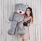Большая мягкая игрушка мишка Yarokuz Билли 150 см Серый, фото 2