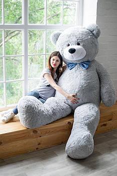 Величезний м'який ведмедик Yarokuz Вільям 250 см Сірий