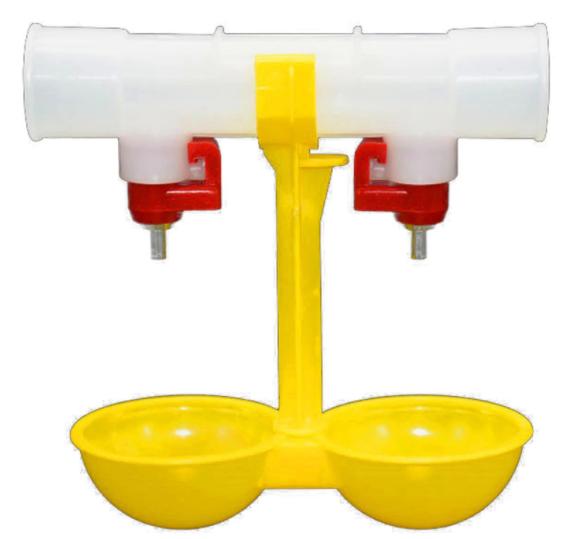 Поилка двойная на круглой трубы 25 мм
