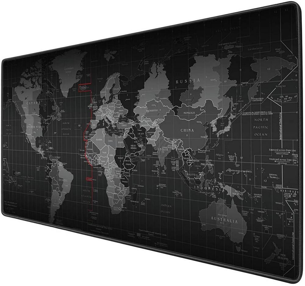Игровая поверхность (Коврик для мышки) Карта Мира (90х40 см)