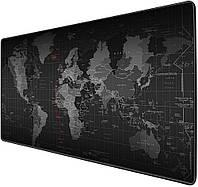 Ігрова поверхня (Килимок для мишки) Карта Світу (90х40 см)