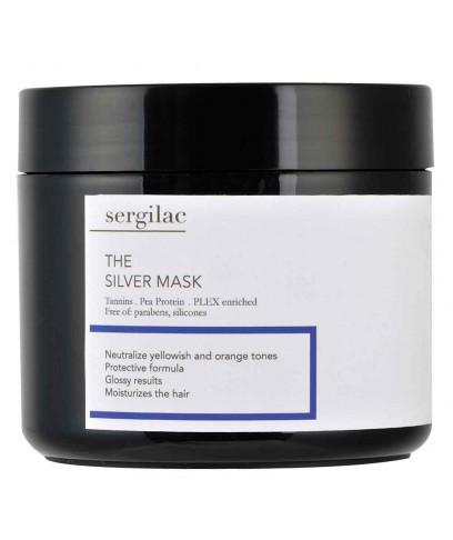 Маска для волос Sergilac The Silver Mask нейтрализующая желтый пигмент 500 мл