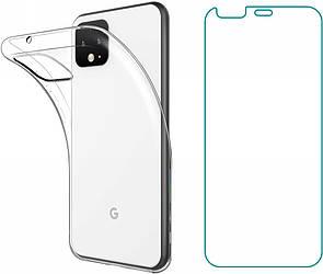 Комплект Чехол и Защитное Стекло Google Pixel 4 XL (Гугл Пиксель 4 ХЛ)