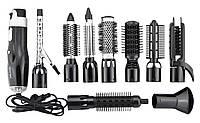 Стайлер для волос, Фен GM 4833, Плойка 10 в 1, Утюжок плойка, Фен с насадками, Набор для укладки, Фен щетка