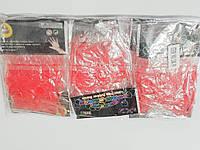 Резинки для плетения браслетов красные 2400шт с крючками и застежками