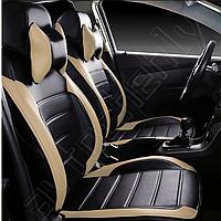 Модельные чехлы из экокожи на сиденья Chevrolet Aveo / Шевроле Авео