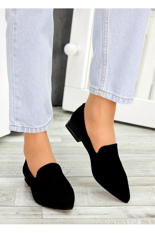 Женские туфли лодочки замша черная Magic