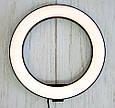 Светодиодное лед кольцо для селфи Ring Fill Light 20 см. кольцевая лампа для телефона  ( 7326 ) (GK), фото 7