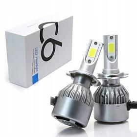Лампа автомобильная LED C6 H7 (Silver) | Диодная лампа для автомобиля