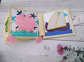 Книжечка-игрушка для девочки развивающая ручной работы 17