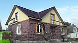 Термопанели фасадные на основе ваты , фактура Колотый кирпич, толщина 100 мм, фото 10