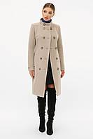 Модное серое женское пальто двубортное размеры 42 44 46 48