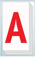 Детские развивающие карточки Буквы 13106039У на укр. языке