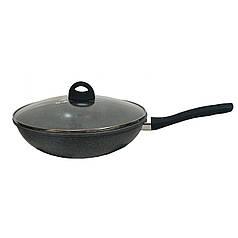 Сковорода WOK с крышкой и гранитным покрытием Benson BN-496 28 см