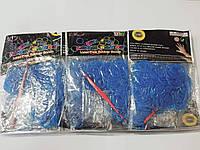 Резинки для плетения браслетов синие 2400шт с крючками и застежками