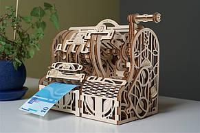 Кассовый аппарат UGEARS Механический 3D пазл конструктор из дерева