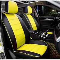 Чехлы на сиденья модельные из экокожи для сидений автомобилей Chevrolet Aveo / Шевроле Авео