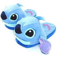 Тапочки домашние Стич синий взрослые / тапки кигуруми Стич 36-42 размер