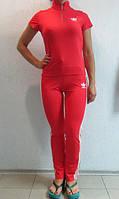 Женский летний спортивный костюм Adidas красный (9987) код 903А
