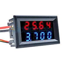 Цифровой амперметр-вольтметр высокой точности 100В 10А
