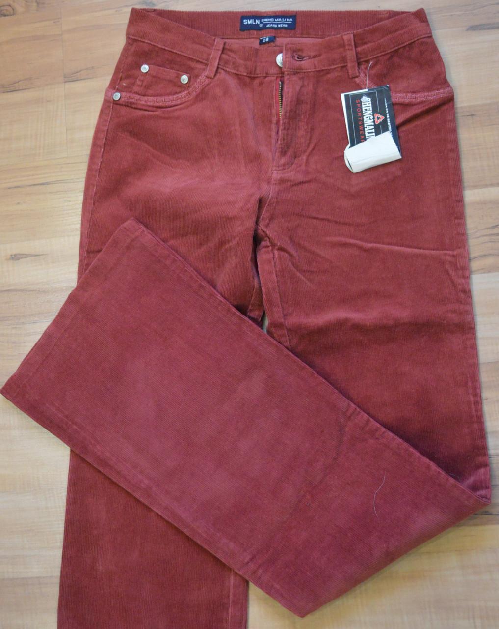 Женские джинсы вельвет 132-1