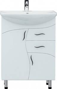 Тумба для ванной комнаты Стандарт Т7 с умывальником Лотос-56