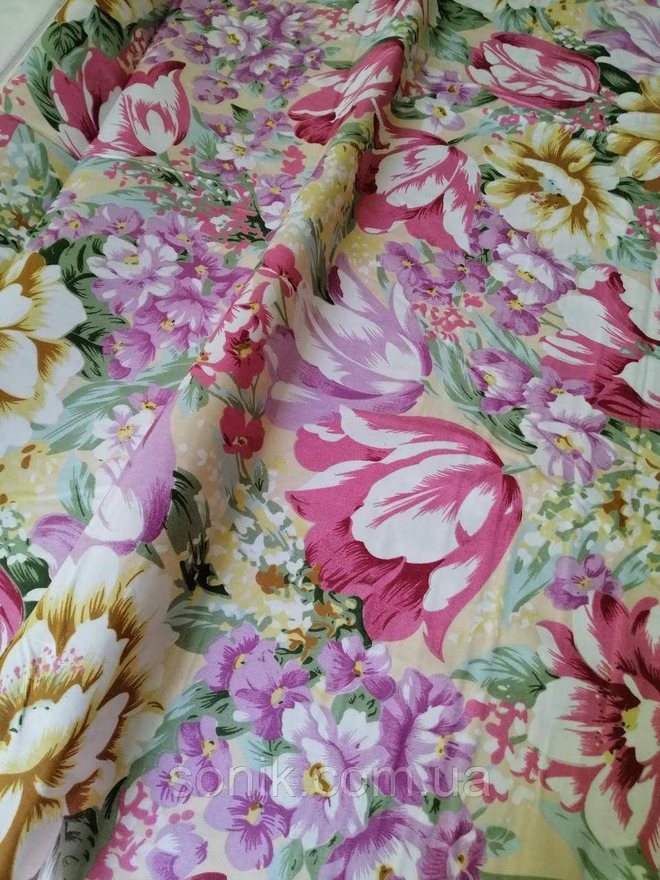 Ткань для наперников Розовый тюльпан хлопок