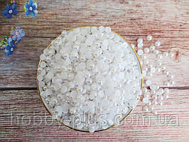 Полубусины перламутровые, 6 мм, цвет белый с АВ напылением, 10 грамм (170-180 шт)