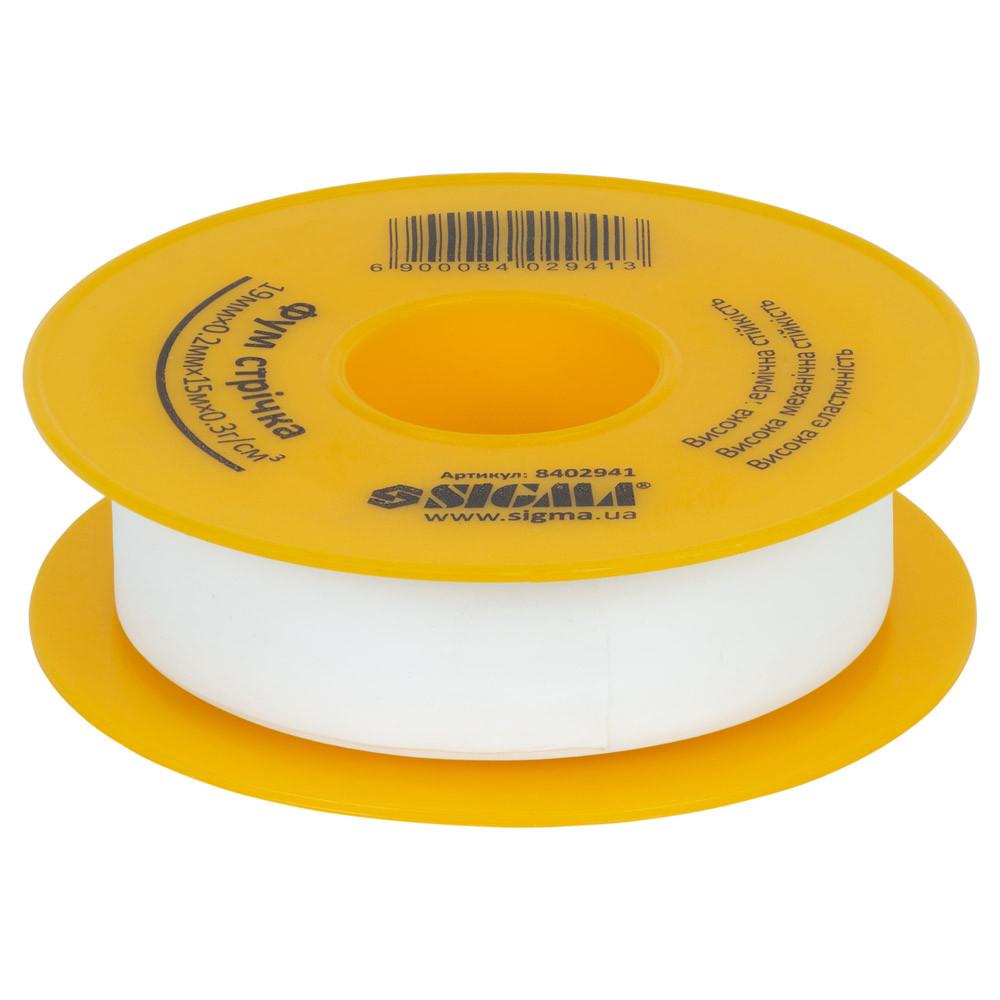 Фторопластовая (ФУМ) лента 0.2мм×19мм×15м SIGMA (8402941)