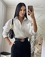 Жіноча крута сорочка Unisex оверсайз крою з кишенями Rf502