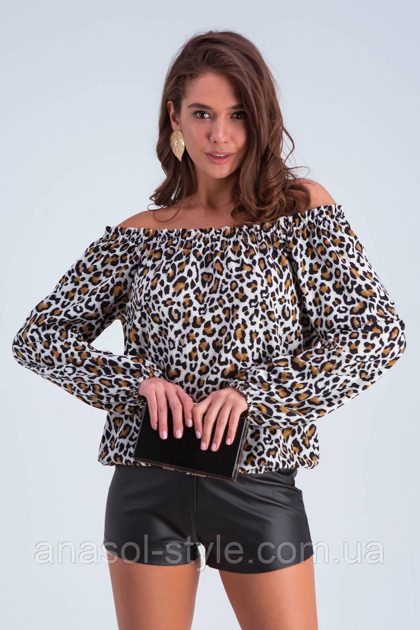 """Блуза """"Трикси"""" леопард"""