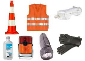 ADR-комплект. для небезпечних вантажів, яким присвоєно знаки небезпеки № 4.2, 5.1, 5.2, 6.2 або 7